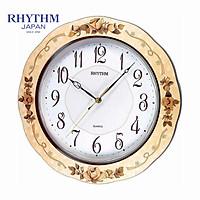 Đồng hồ treo tường Nhật Bản Rhythm CMG971NR07 - Kt 33.0 x 33.0 x 4.8cm, 1.08kg Vỏ gỗ sơn mài.
