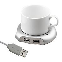 Đế hâm nóng đồ uống có cổng USB tiện dụng