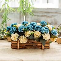 Hoa lụa, giỏ hoa cẩm tú cầu Châu Âu xinh tươi trang trí bàn phòng khách, decor kệ tủ phòng ngủ lãng mạn TC-25