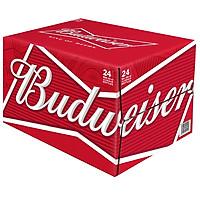 Thùng 24 Chai Bia Budweiser Alumium (355ml / Chai) - Giao Mẫu Ngẫu Nhiên
