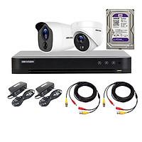 Trọn Bộ 2 Camera HD TVI 5MP Tích Hợp Báo Động HIKVISION - Hàng Chính Hãng