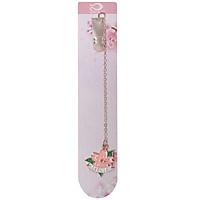 Bookmark Kẹp Sách Kim Loại Phối Charm Hình Hoa Sakura - Mẫu 4