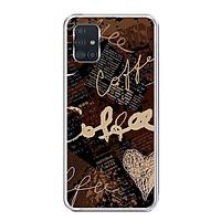 Ốp lưng điện thoại Samsung Galaxy A51 - Silicon dẻo - 0073 COFFEE - Hàng Chính Hãng
