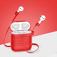 Bao case silicon và dây nối chống mất tai nghe Baseus cho Apple Airpods / Earpods - Hàng chính hãng