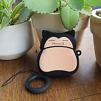 Bao Case Silicon Cho Tai Nghe Apple AirPods 1 / AirPods 2 -  Hình Pokemon Snorlax Bụng Bự