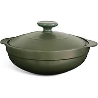 Nồi dưỡng sinh Luna Minh Long Healthy Cook 213083464 + nắp - Xanh Rêu (3.0L)