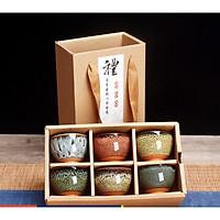 Set 6 ly trà gốm sứ cao cấp