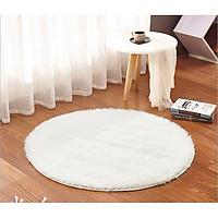 Thảm tròn trang trí phòng khách đường kính 100cm, thảm lông mềm
