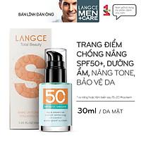 KEM CHỐNG NẮNG TRANG ĐIỂM COLLAGEN+ 2IN1 SPF45+++ 30ml LANGCE dành cho Nam