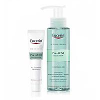 Combo Eucerin Tinh Chất Giảm Mụn ProAcne AI Treatment Và Gel Rửa Mặt Proacne Gel 200ml