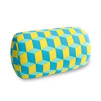 Soft Printing MicroBead Roll Pillow Car Cushion Neck Head Leg Back Support Bolster Bed Pillow