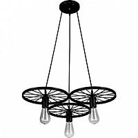 Đèn thả - đèn treo - đèn trang trí thả trần 3 bánh xe cao cấp kèm 3 bóng LED chuyên dụng BRITISH LIGHT