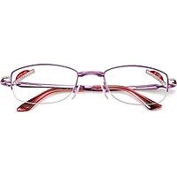Sunset red smart zoom reading glasses female folding portable far and near dual-use elegant fashion old glasses E9013 300 degrees purple