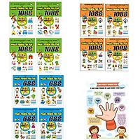 Bộ Sách Rèn Luyện Trí Thông Minh (12Q) : 1088 Câu Đố Phát Triển Trí Tuệ 4-6 Tuổi ( Bộ 8Q) + Combo 688 Câu Đố Phát Triển Trí Tuệ 2-3 Tuổi (Bộ 4Q) + Poster An Toàn Cho Con Yêu (Sách Phát triển trí tuệ / Tư duy logic dành cho bé 4-6 tuổi )