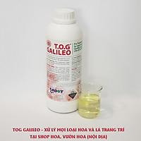 Dung Dịch Xử Lý Hoa TOG Galileo của ISRAEL (Chai 1 Lít) dùng bảo quản hoa cắt cành tươi lâu tại Nhà Vườn Trồng Hoa, Vựa Hoa và Chợ Sỉ Hoa. Tỷ lệ dung dịch 0.1% tức chai 1 Lít TOG pha được 1.000 Lít dung dịch xử lý hoa