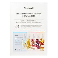Bộ 5 Mặt Nạ Giấy Dưỡng Da Chiết Xuất Từ Các Loài Hoa Mamonde Sheet Mask Flower Power 5 Day Sampler - 110651318