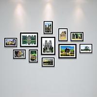 Bộ Khung Ảnh Treo Tường Cảnh Ở Hà Nội Đẹp Nghệ Thuật Tặng Kèm bộ ảnh như hình mẫu, đinh treo tranh và sơ đồ treo PGC275