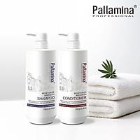 Cặp dầu gội xả Pallamina Collagen Moisturize & Smooth phục hồi siêu mượt tóc cao cấp 400mlx2 (New)