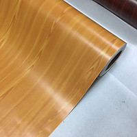 Decal gỗ màu vàng nhạt - Giấy dán tường bàn tủ có sẵn keo ( khổ 1,2m - Mẫu G7 )