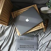Case, ốp dành cho Macbook - Màu Xám [Tặng kèm nút chống bụi Macbook - Màu ngẫu nhiên] - Hàng chính hãng