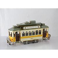 Mô hình Xe điện cổ Retro Kim loại trưng bày / Vintage Metal Tram handmade Decoration (1304E-3538)