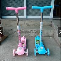 Xe trượt Scooter mẫu mới 2019 (hàng Cao cấp có giảm xóc + phanh chân)- màu cho bé gái