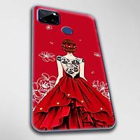 Ốp lưng dành cho Realme C11, Realme C12, Realme C15, Realme C17 mẫu Cô gái váy đỏ áo đen