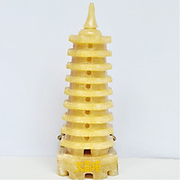 Tháp Văn Xương Đá Ngọc Hoàng Long Vàng 9 Tầng - 19cm - Hợp Mệnh Kim, Thổ