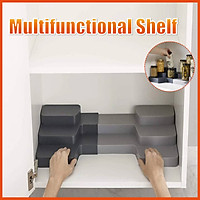 Multifunctional 3 Layers Plastic Storage Rack Spice Step Shelf Cabinet Jar Bottle Seasoning Organizer Kitchen Home Holder Desktop