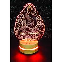 Đức phật 4, Phật tổ, Đèn 3D led, Đèn ngủ thay đổi 16 màu