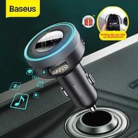 (Tặng túi đựng TOPK)Tẩu sạc nghe nhạc Baseus, bluetooth V5.0, hỗ trợ đọc thẻ TF, cổng USB, AUX audio,...-Hàng chính hãng