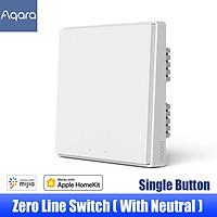 Aqara Wall Switch D1 ZigBee Smart Light Remote Control Wireless Zero Line Fire Wire With/NO Neutral 1/2/3 Key Switchs