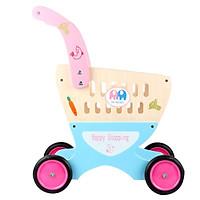 Đồ chơi xe đẩy siêu thị bằng gỗ cho bé