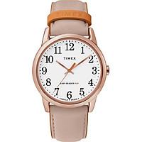 Đồng Hồ Nữ Dây Da Timex Easy Reader 38mm Rose Gold Case White Dial Pink Leather Strap - TW2T28600