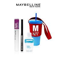 Bộ Trang Điểm Mắt Chuẩn Salon (Mascara Falsie Lash Lift + Bút Kẻ Mắt Nước Lâu Trôi 36H Line Tattoo High Impact Liner + Tẩy Trang Mắt Môi 40ml + Ly nhựa đổi màu)