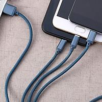 Cáp Sạc Remax 3 Đầu RC-131TH Iphone - Micro usb - Type C + Tặng 5 Dây Quấn Bảo Vệ Cáp - Chính Hãng