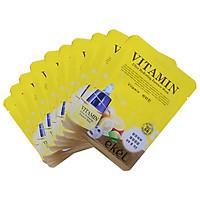Combo 10 mặt nạ dưỡng da tặng 3 mặt nạ dưỡng da bất kỳ EKEL Vitamin ULtra Hydrating Essence Mask