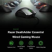 Original Razer Deathadder Essential Chuột chơi game có dây Mice 6400Dpi Cảm biến quang học 5 nút độc lập cho máy tính xách tay PC Gamer