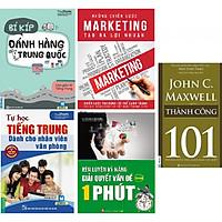 Combo 4 quyển: 1. Bí kíp đánh hàng tại Trung Quốc(2 màu)+ 2.Tự học tiếng trung dành cho nhân viên văn phòng+ 3.Những chiến lược MARKETING tạo ra lợi nhuận + 4.Rèn luyện kỹ năng giải quyết vấn đề trong 1 phút.(TẶNG cuốn 101 thành công-John C. Maxwell)