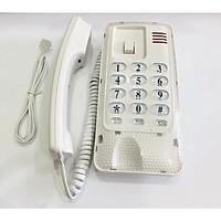 Điện thoại bàn có dây nhỏ gọn màu trắng