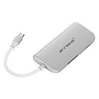 Hub 8 Cổng USB C Hub AnnBos A030EH8 (Silver) - Hàng Nhập Khẩu