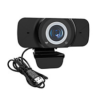 Wide Angle Webcam, Large View Video Conference Camera, Full HD 1080P Live Streaming Web Cam with Built-in Microphone,
