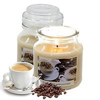 Hũ nến thơm tinh dầu Bartek Coffee and Spices 130g QT06647- cà phê capuchino (giao mẫu ngẫu nhiên)