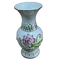 Bình Bông Bạch Ngọc Tím 8 inch PT0229(10cm x 10cm x20cm)