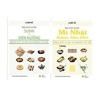 Sách - Nhập môn ẩm thực Nhật: Sushi và Xiên nướng + Mì Nhật – Ramen, Soba, Udon ( Tặng Kèm Bookmark Sáng Tạo )