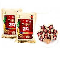 Combo 2 gói Kẹo hồng sâm không đường cao cấp Sugar Free Red Ginseng Candy 500g - Hàn Quốc