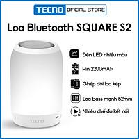 Loa Bluetooth TECNO SQUARE 2 | Loa Bass mạnh 52mm | Ghép đôi loa kép | Pin 2220 mAh | Đèn Led nhiều màu - Hàng Chính Hãng
