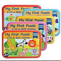 Đồ chơi gỗ - Combo 5 Hộp ghép hình My first Puzzle (5 chủ đề khác nhau)