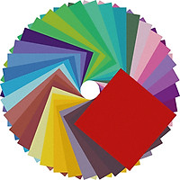 Giấy Thủ Công Origami, 100 Tờ 7 Màu Size Lớn 12x12cm, Giấy Xếp Cò