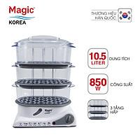 Máy hấp thực phẩm đa năng 03 tầng Magic Korea A61 (10.5 lít) - Hàng Chính Hãng